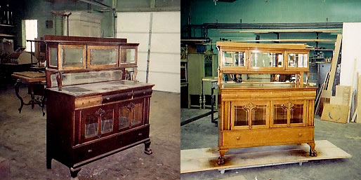 Antique Hutch Refinishing Before & After